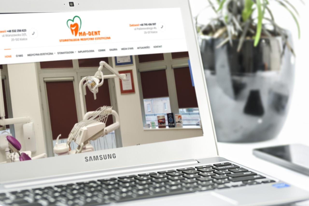 Nowa strona internetowa firmy MA-DENT Kielce