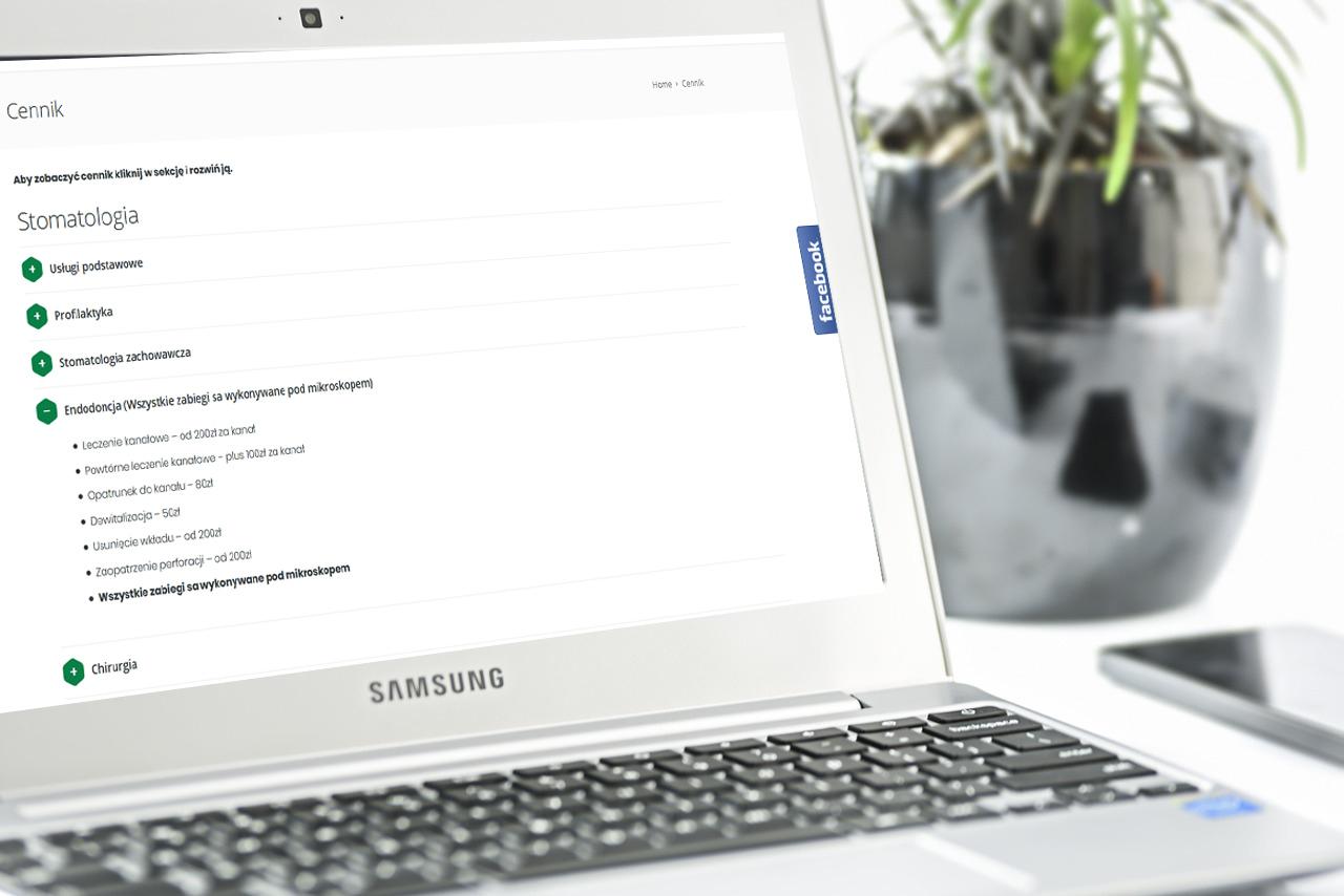 Nowa strona internetowa firmy Ma-Dent Kielce - Zdjęcie 3