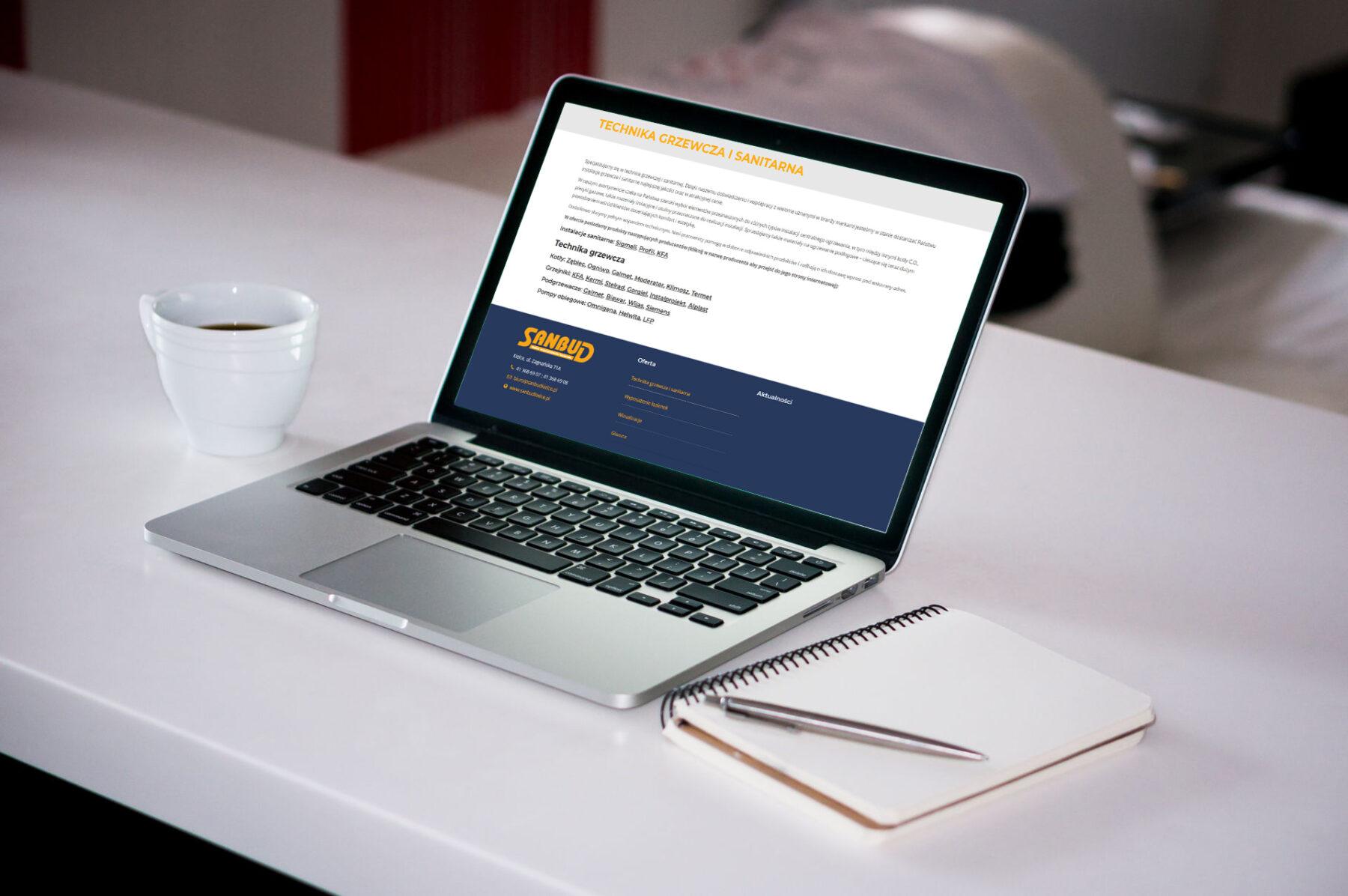 Strona www dla firmy SANBUD - Zdjęcie 2