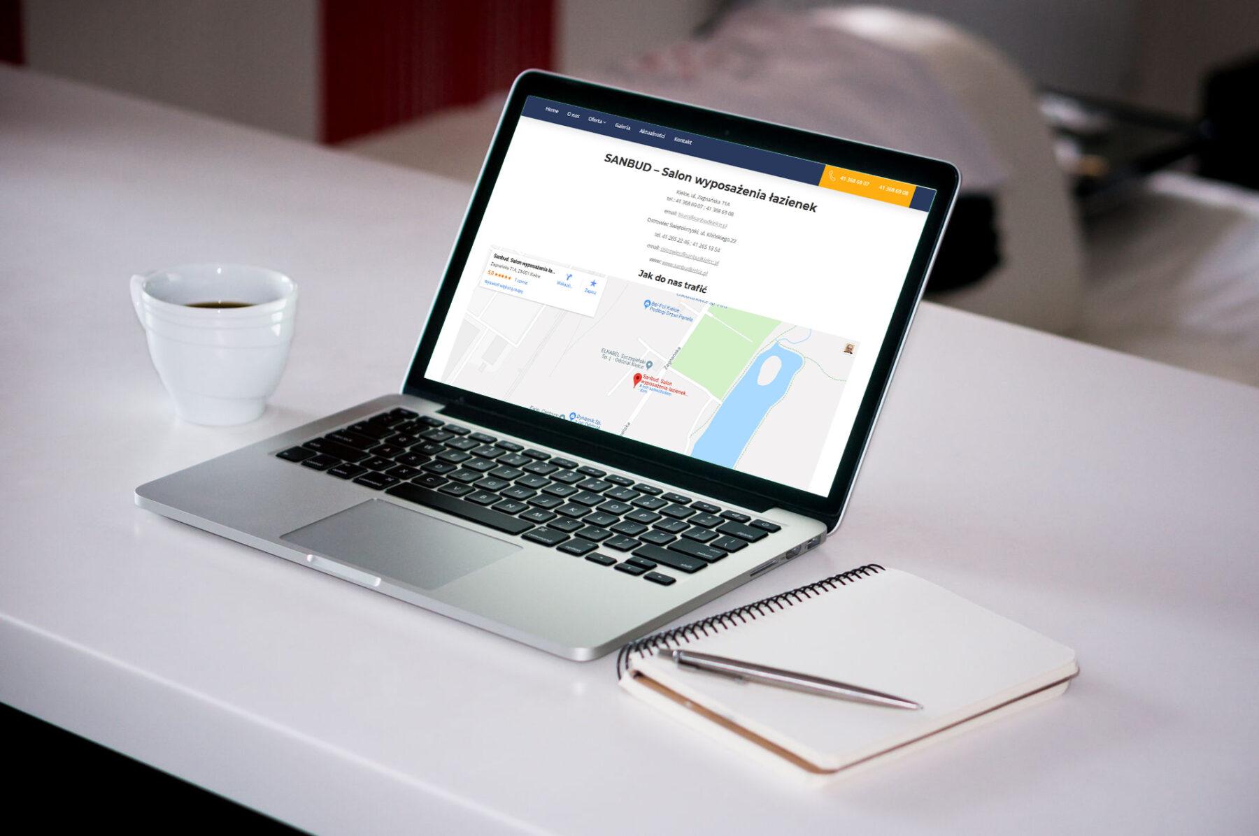 Strona www dla firmy SANBUD - Zdjęcie 1