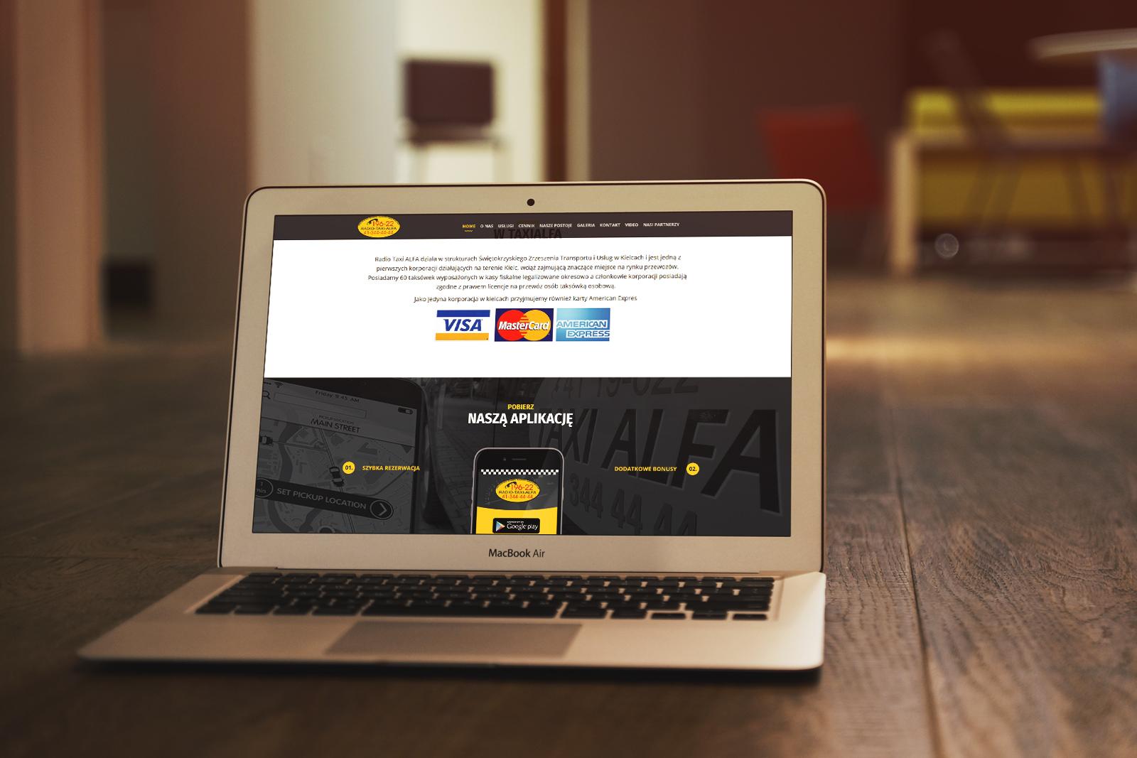 Nowa strona internetowa Radio Taxi ALFA Kielce, zdjęcie 2