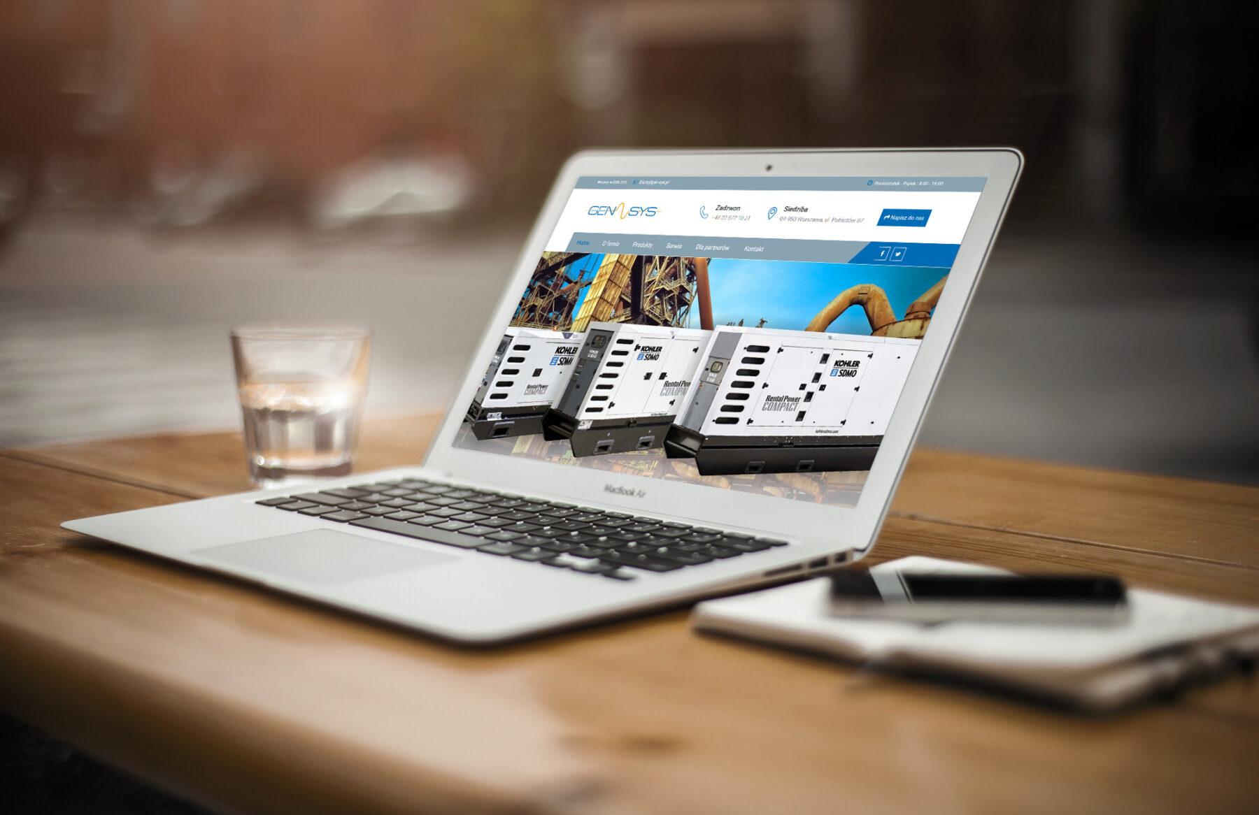 Nowa strona internetowa z katalogiem produktów dla firmy GEN-SYS Sp. z o.o.