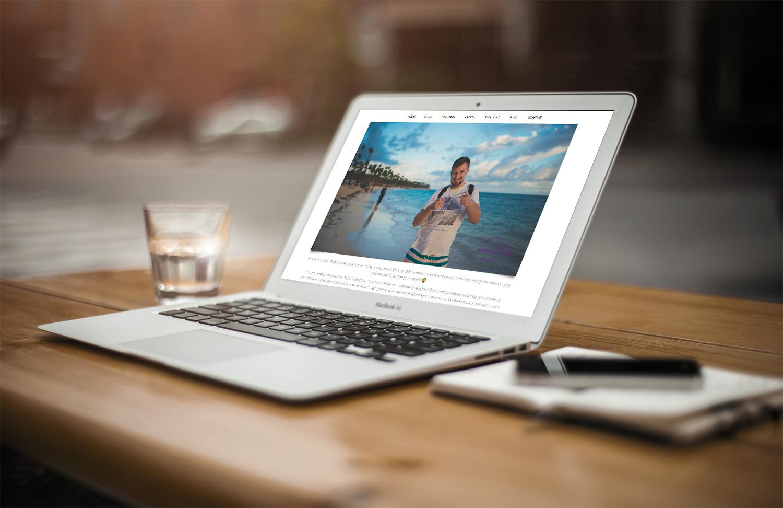 Projekt strony internetowej inspireme.com.pl - wizualizacja 3