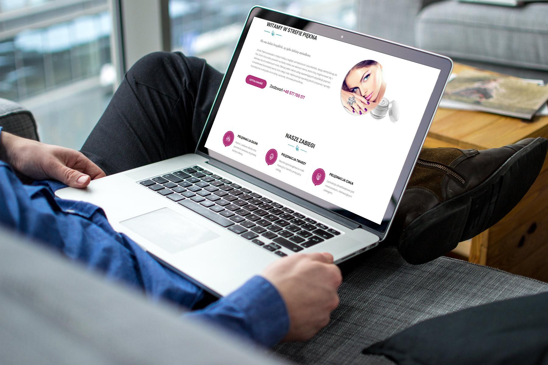 Projekt strony www dla kieleckiej firmy oferującej usługi kosmetyczne
