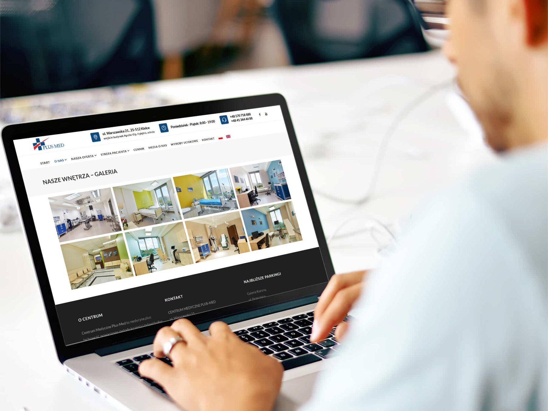 Nowa wersja strony WWW dla Centrum Medycznego Plus Med Kielce