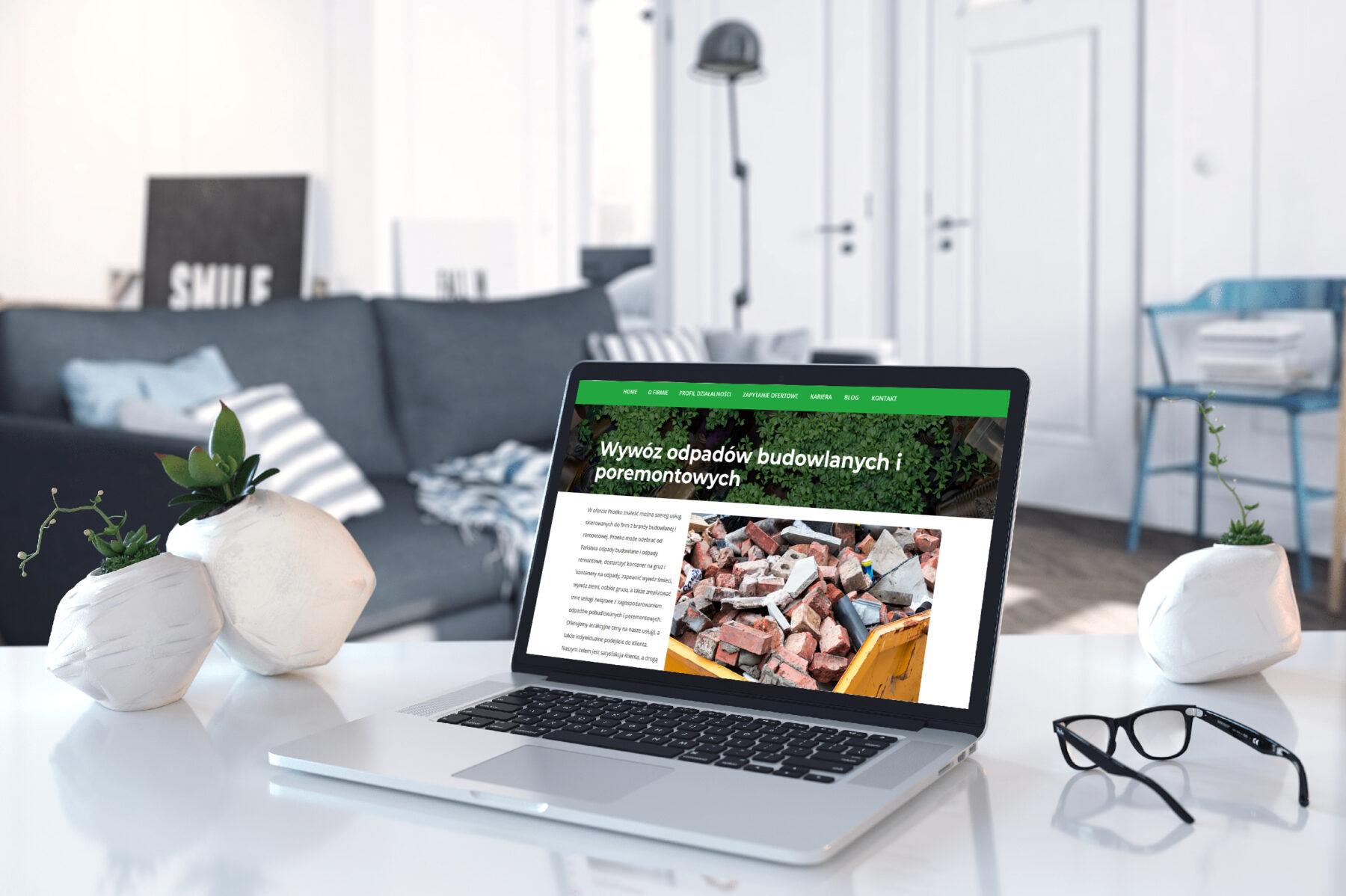 Projekt strony www proekorecykling.pl