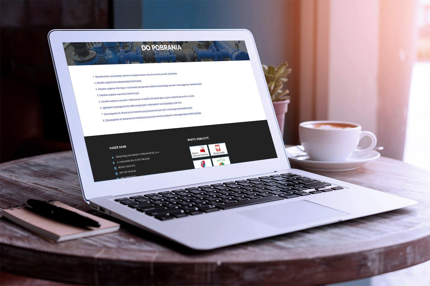 Projekt strony internetowej dla Zakładu Usług Komunalnych w Piekoszowie - galeria 5