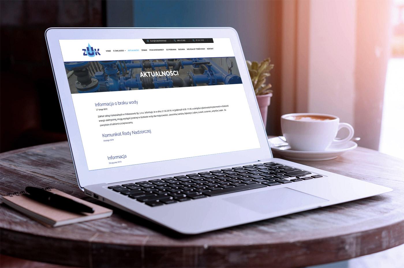 Projekt strony internetowej dla Zakładu Usług Komunalnych w Piekoszowie - galeria 6