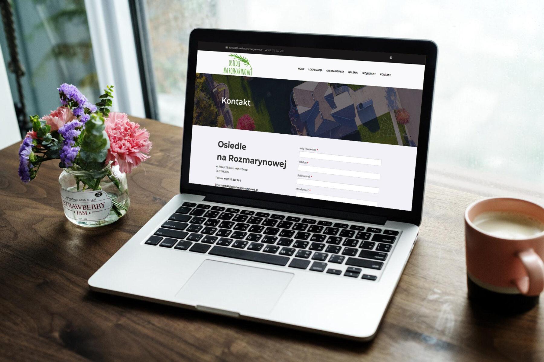 Strona www osiedlenarozmarynowej.pl - projekt 5