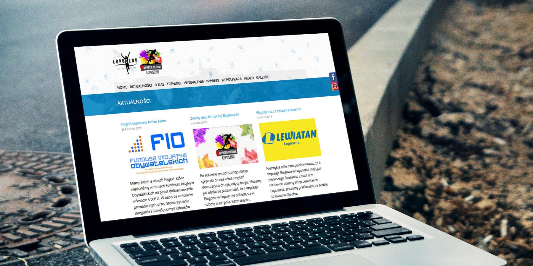 Projektowanie stron internetowych - strona www lopusznoactiveteam.pl - zdjęcie 3