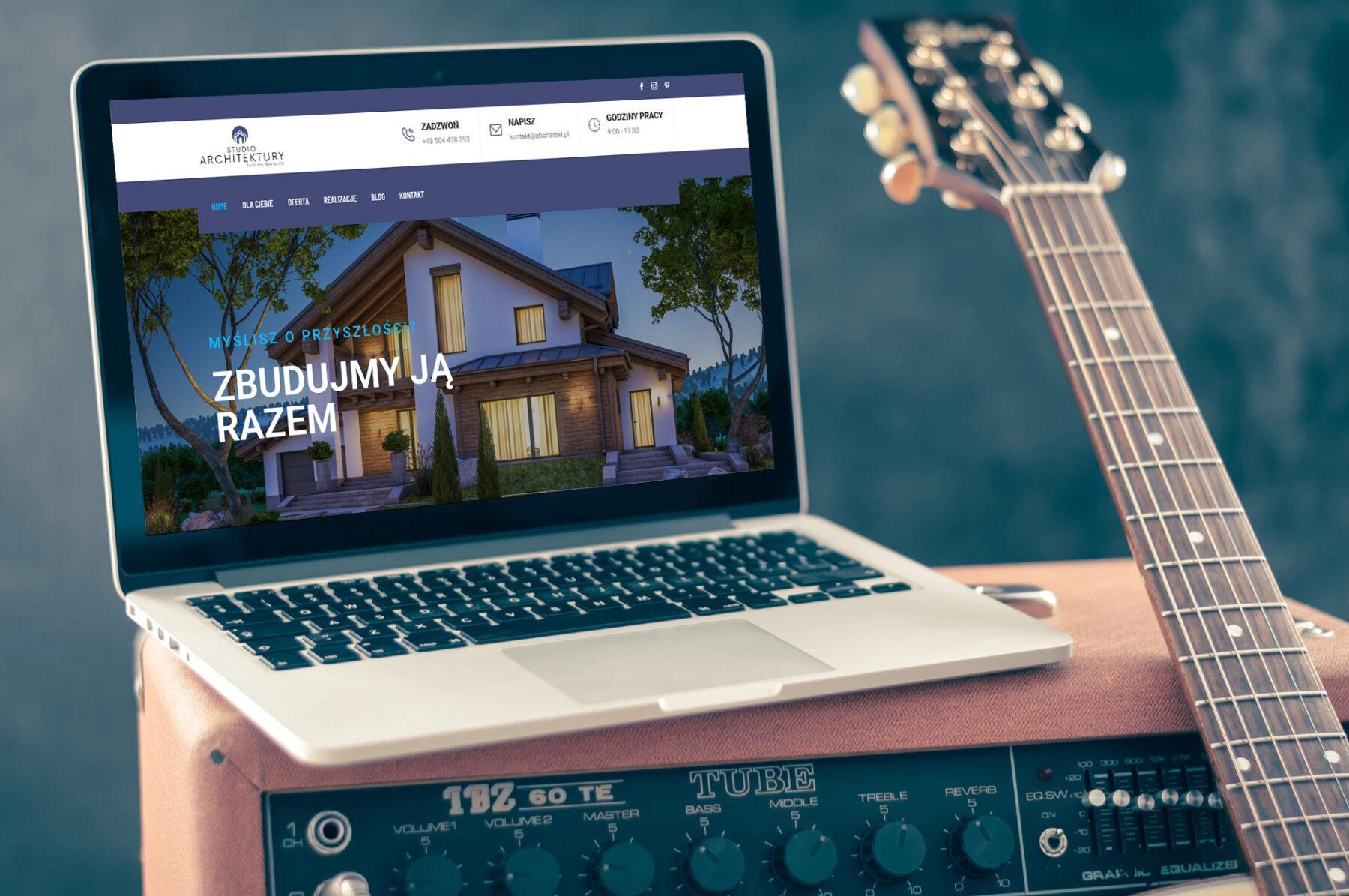 Nowa strona WWW dla firmy Studio Architektury Andrzej Bonarski