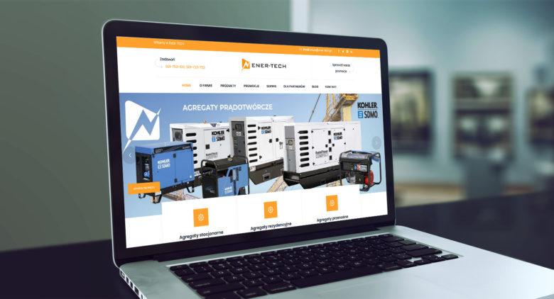 Projekt strony www z katalogiem produktów ener-tech.pl - zdjęcie 1