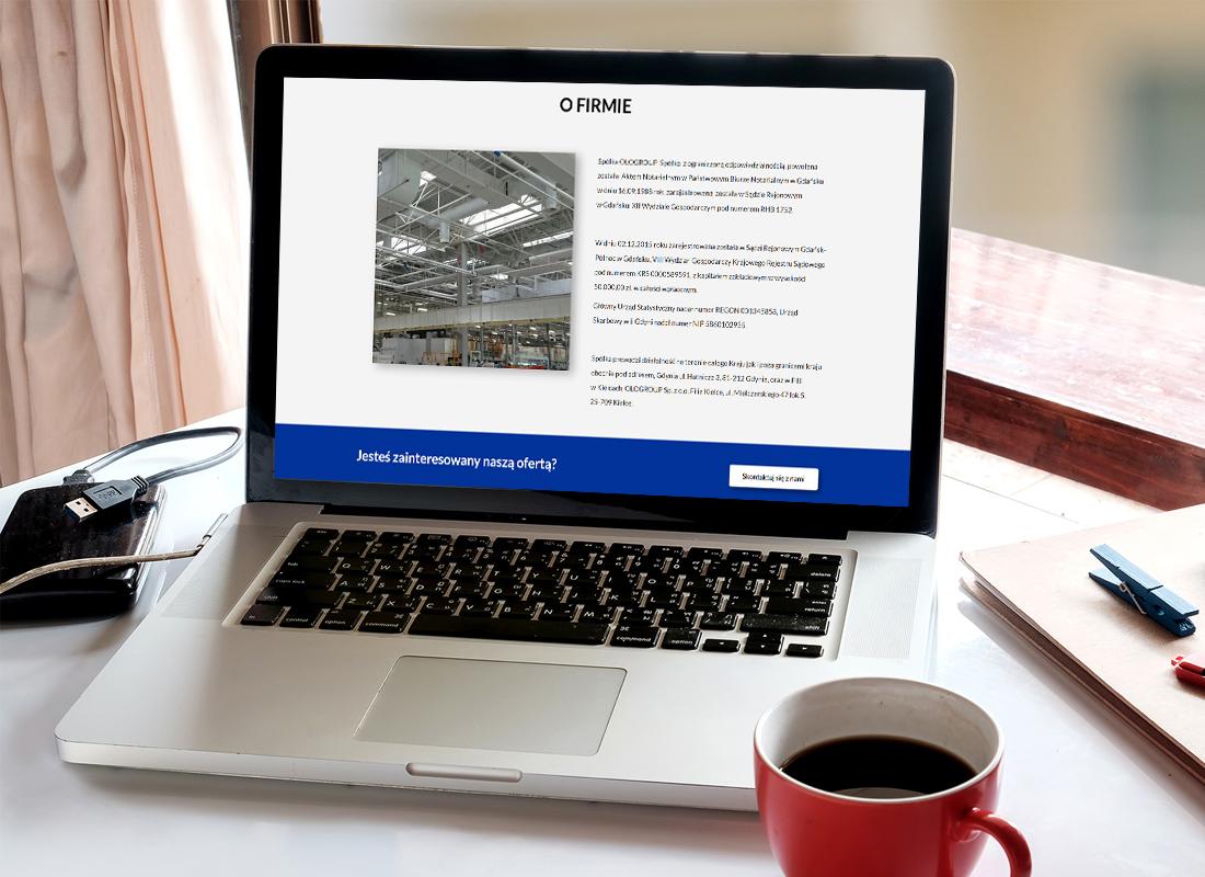 Projekt firmowej strony www ologroup.pl - wizualizacja 2