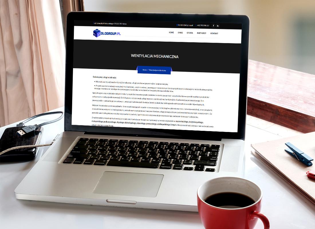 Projekt firmowej strony www ologroup.pl - wizualizacja 5