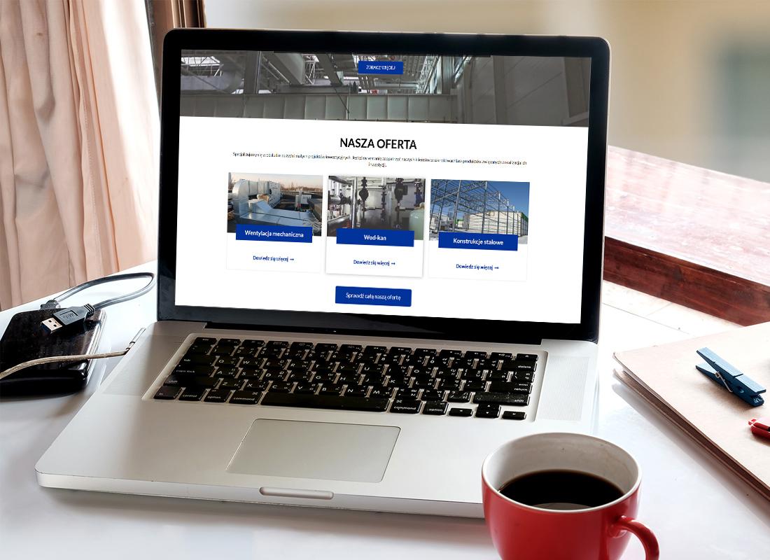 Projekt firmowej strony www ologroup.pl - wizualizacja 7