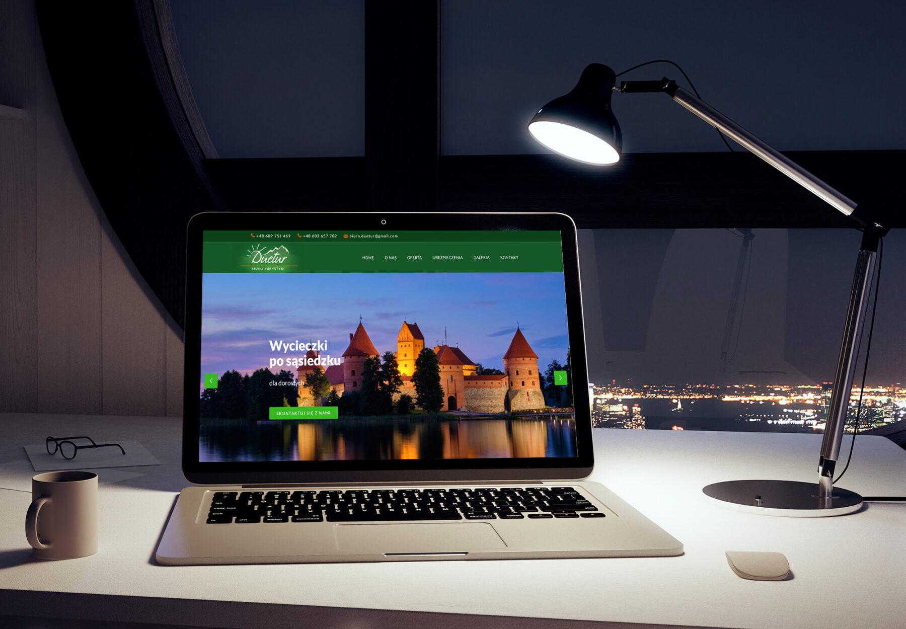 Projektowanie stron www - strona internetowa duetur.pl - obraz 1