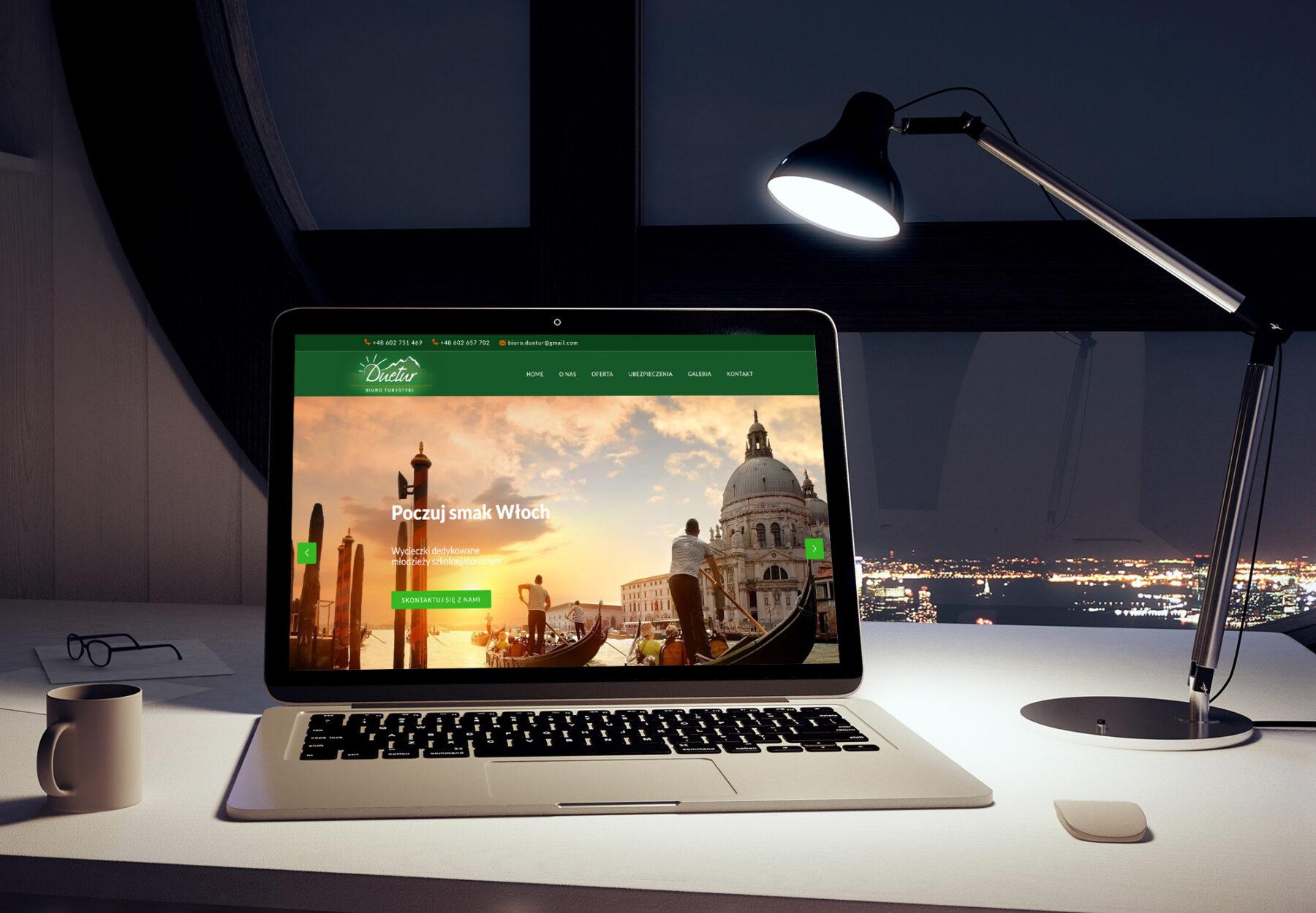 Projektowanie stron www - strona internetowa duetur.pl - obraz 2