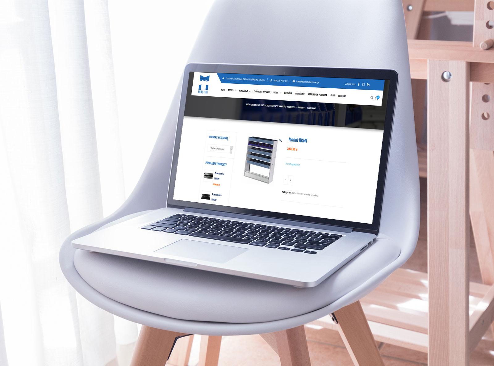 Strona WWW dla firmy Mobiltech