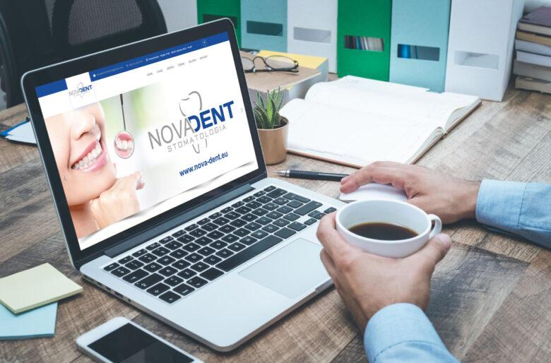 Strona internetowa dla gabinetu stomatologicznego NOVADENT