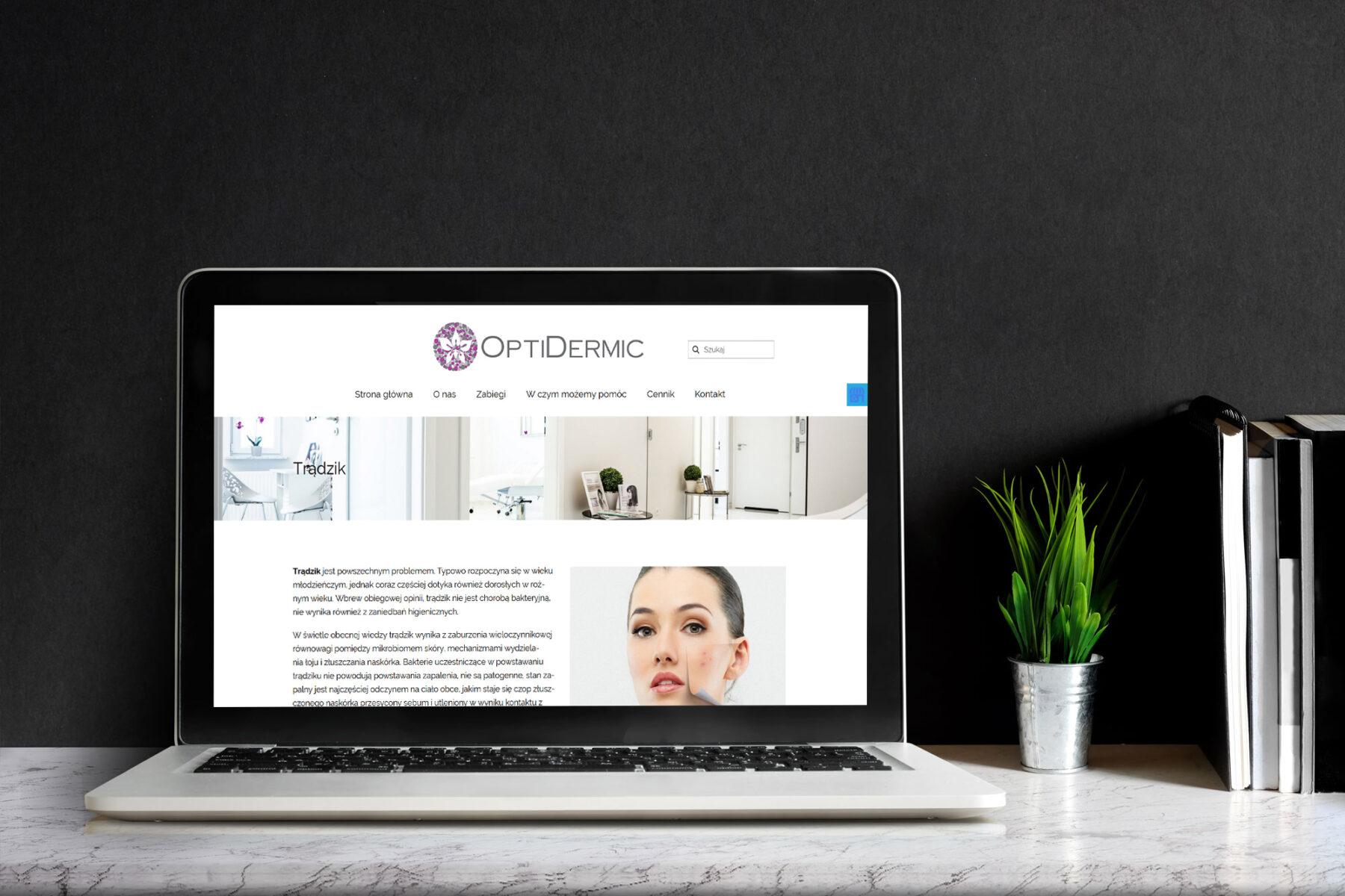 tworzenie stron internetowych optidermic.com by siplex - Obrazek 6
