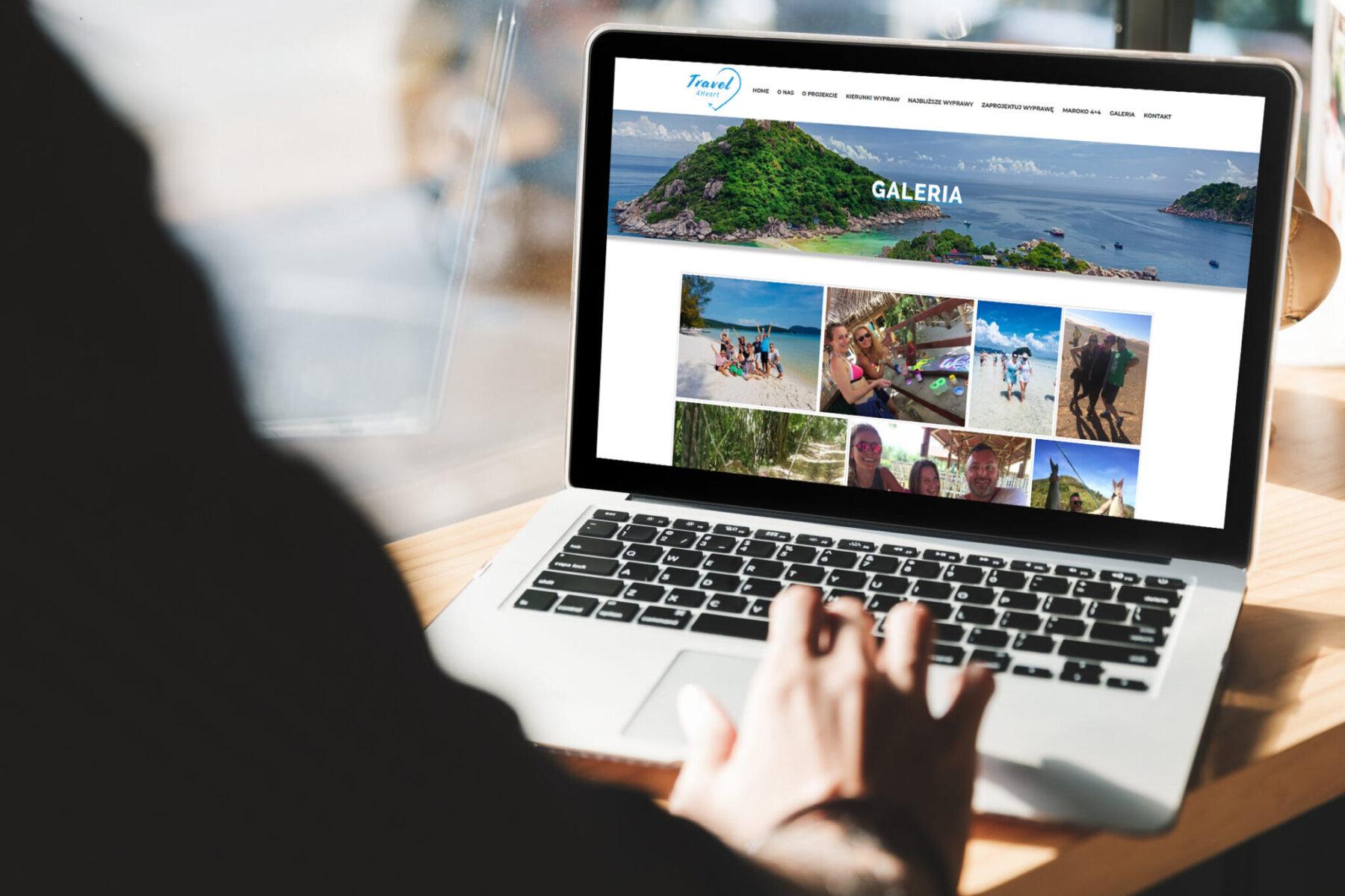 Strona WWW dla biura podróży Travel4Heart