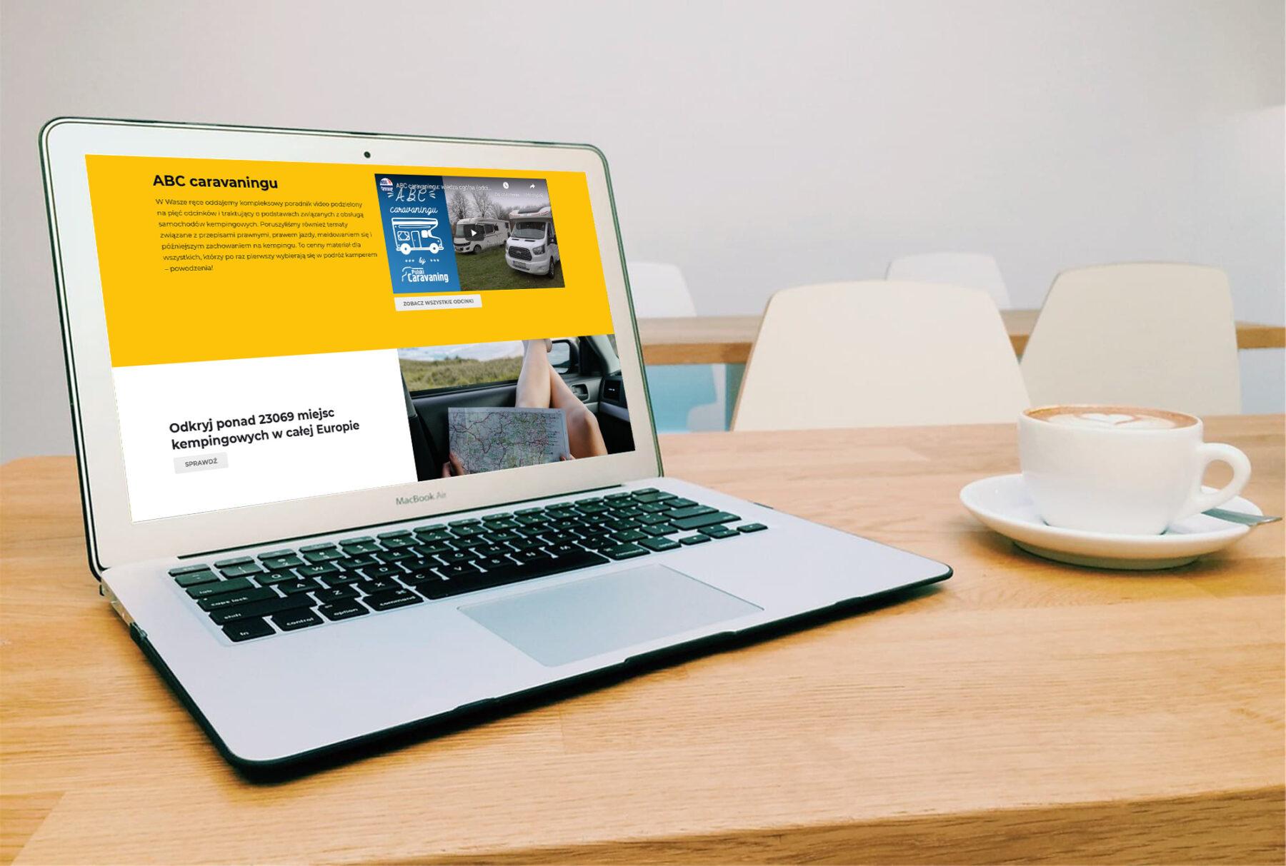 Strona www dla wypożyczalni kamperów