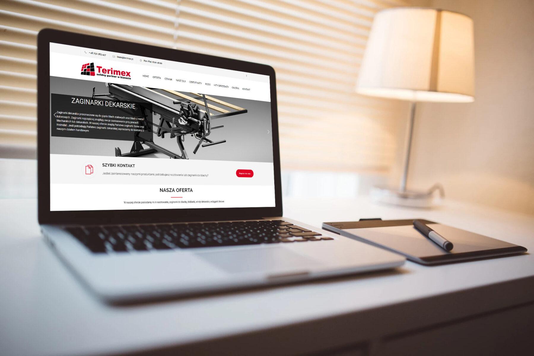 Strona www dla firmy Terimex