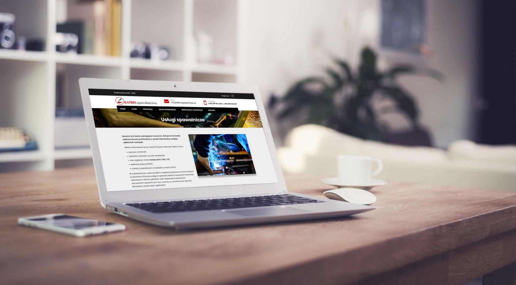 Strona internetowa dla firmy KATRIX