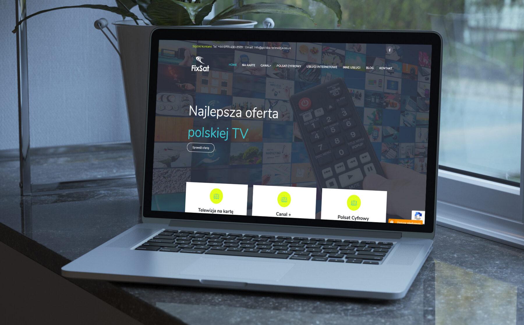 Strona internetowa dla firmy Fix-Sat