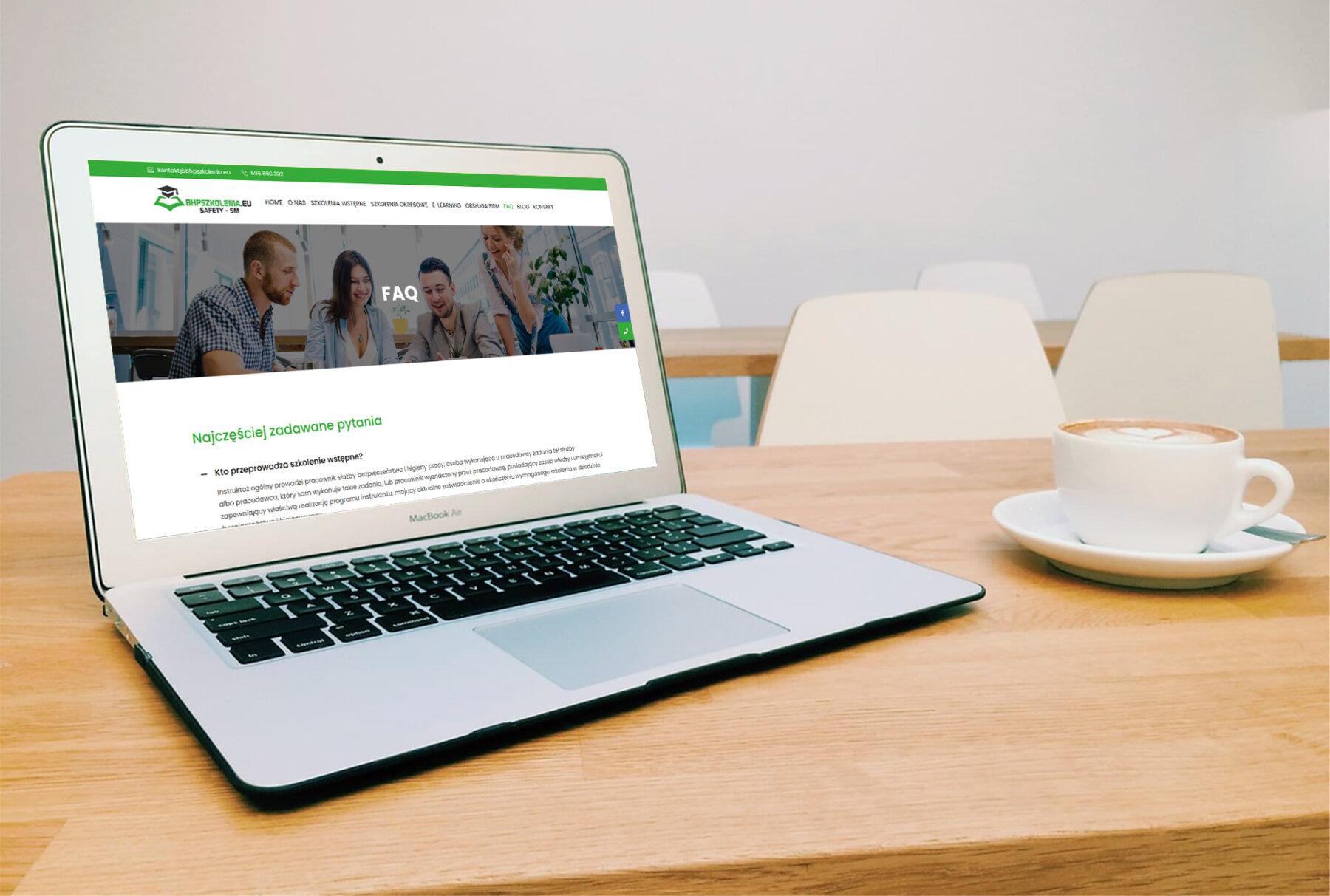 Strona www dla firmy SAFETY – SM