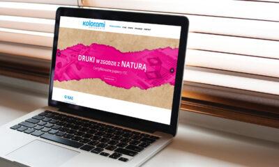 Strona internetowa dla drukarni KOLORAMI