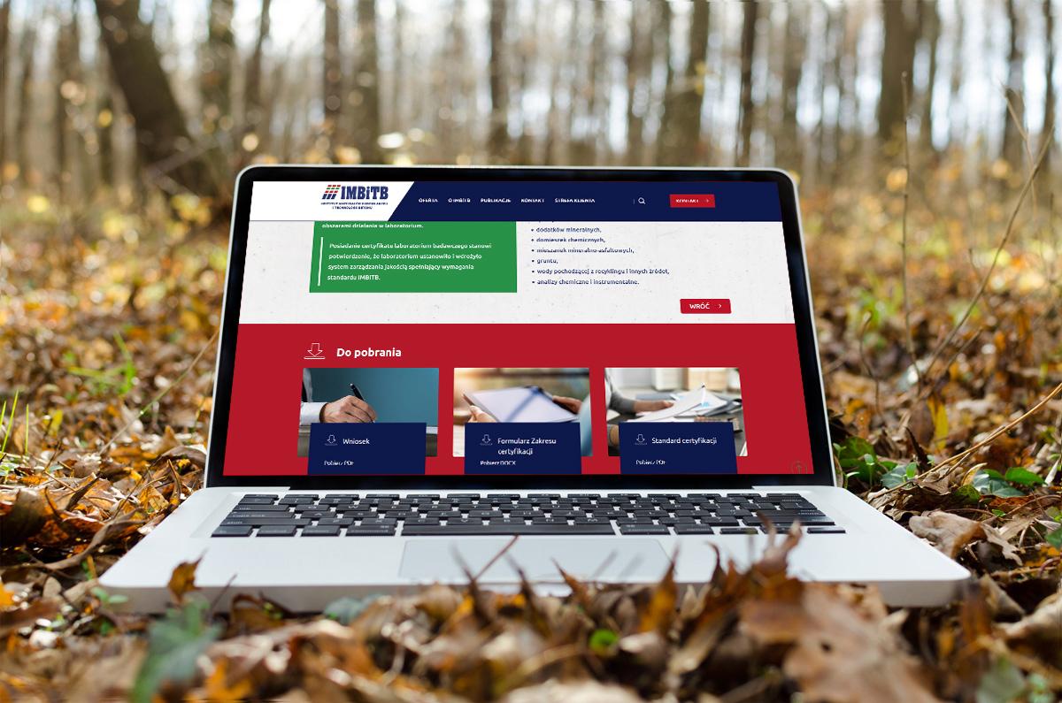 Strona www dla Instytutu Materiałów Budowlanych z Warszawy