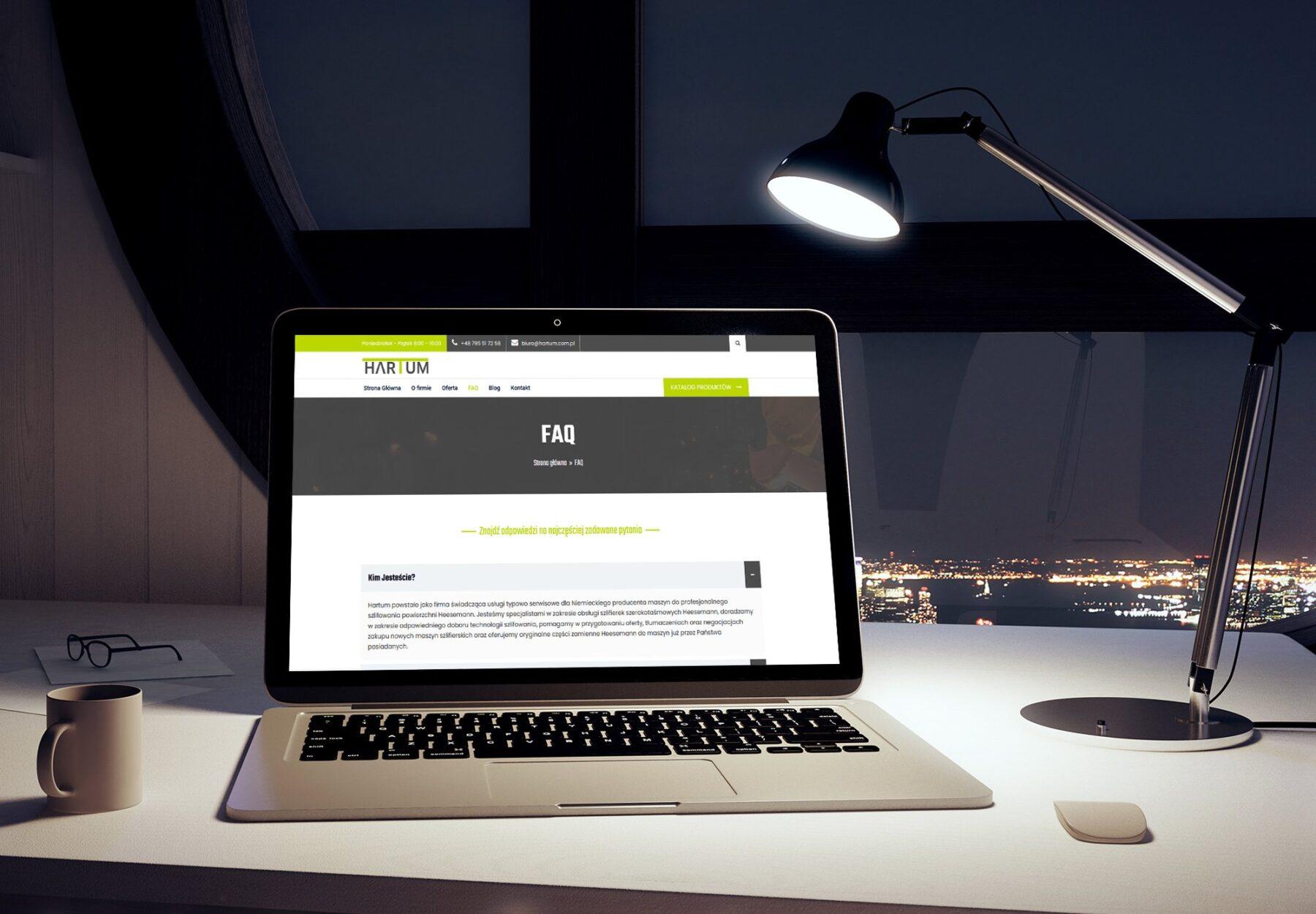 Nowa strona www dla firmy HARTUM