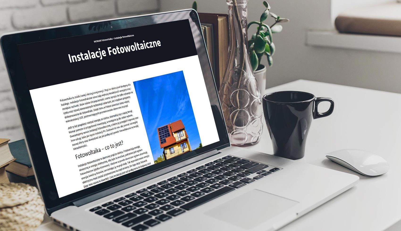 Strona internetowa dla firmy Womar