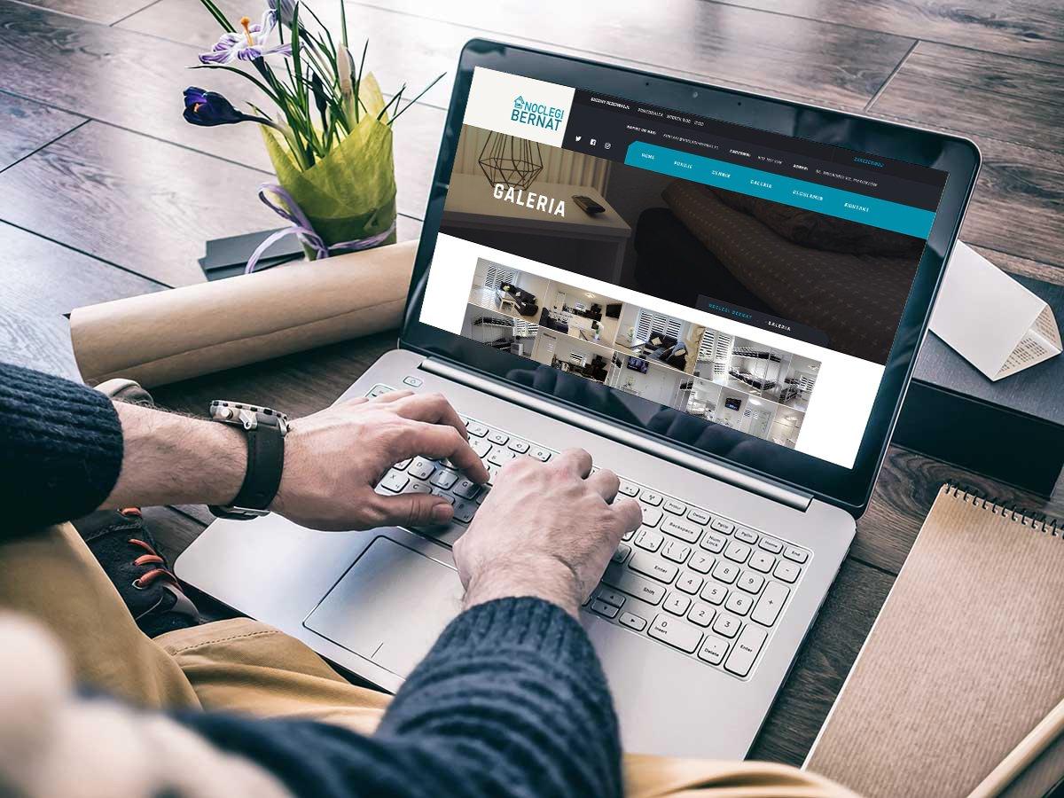 Strona internetowa dla firmy oferującej noclegi