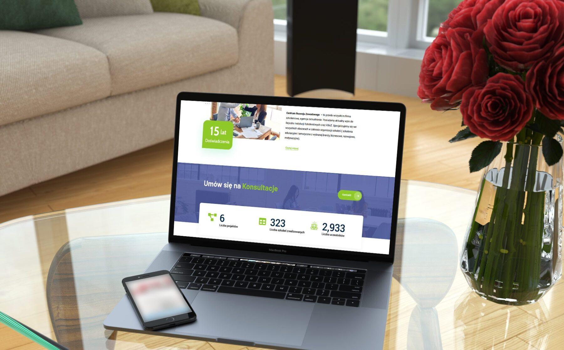 Strona internetowa dla Centrum Rozwoju Zawodowego z Kielc