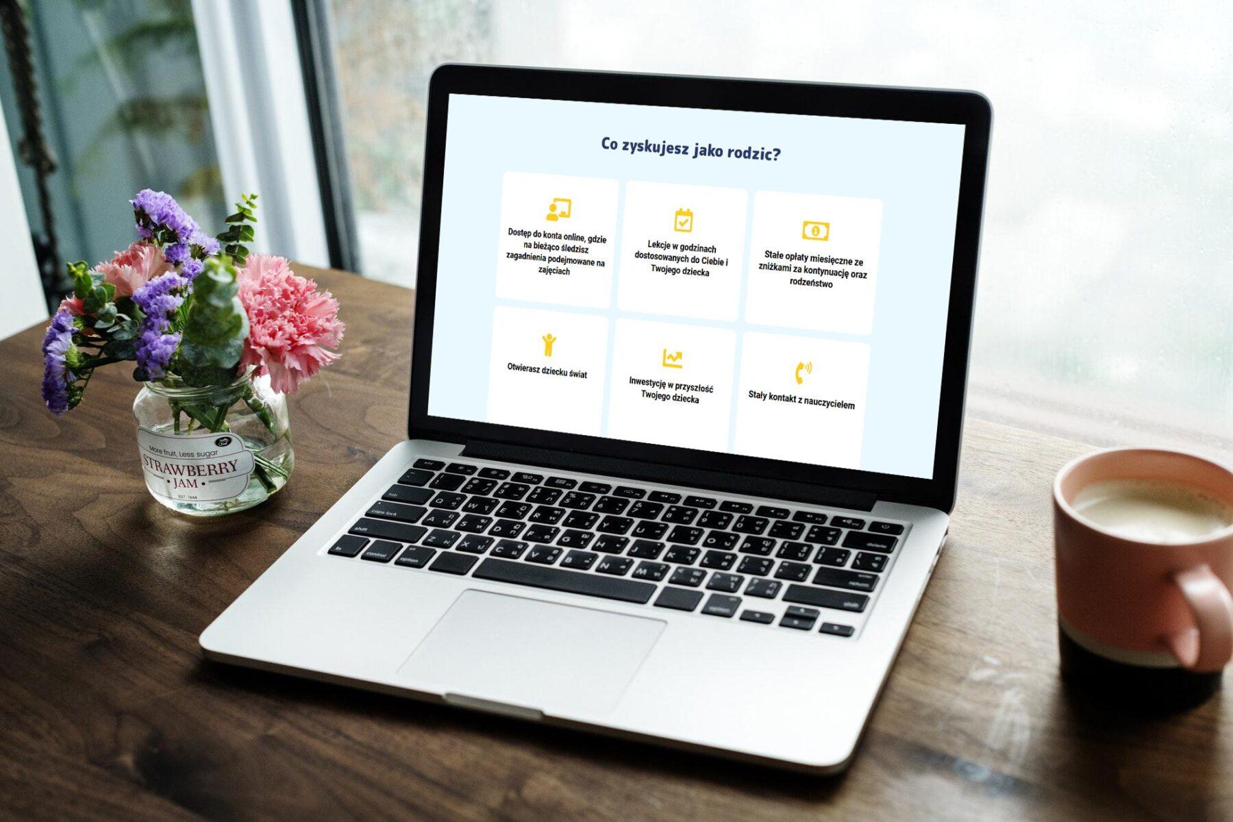 Strona www dla szkoły języka angielskiego