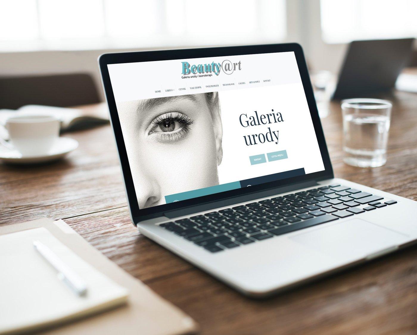 Strona www dla kliniki urody i laseroterapii Beauty Art