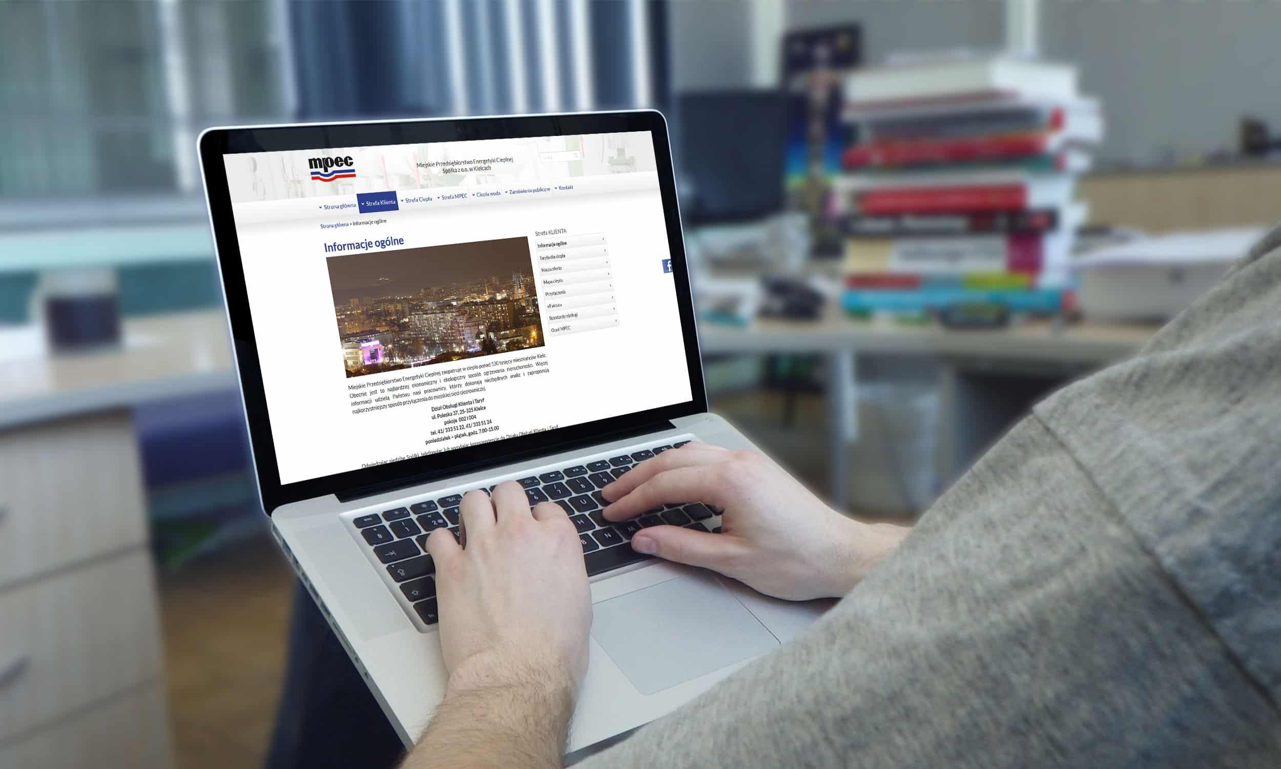 Strona internetowa dla Miejskiego Przedsiębiorstwa Energetyki Cieplnej w Kielcach