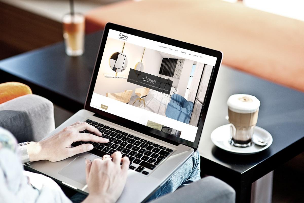 Strona WWW dla studia projektowania wnętrz SOHO