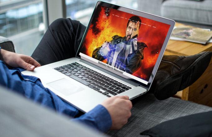 Strona www dla iluzjonisty Marcina Muszyńskiego